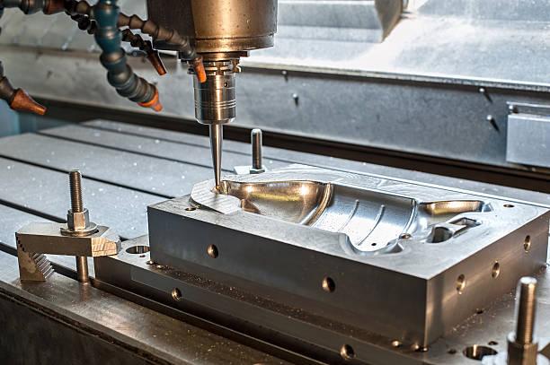 industrial molde de metal/die milling. metalworking. - moldando - fotografias e filmes do acervo