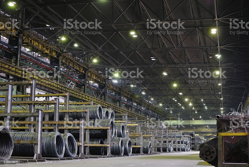 industrial metallurgical storehouse stock photo