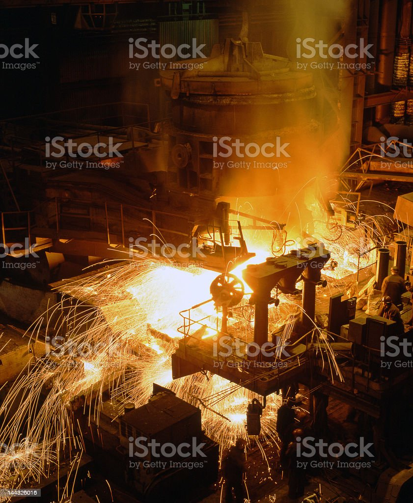 Industrial metallurgy royalty-free stock photo