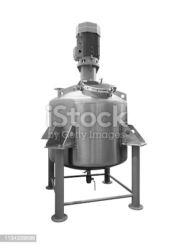 Industrial mixer breaker machine of food  industry, chemical or pharmaceuticalindustry lisolated on white background