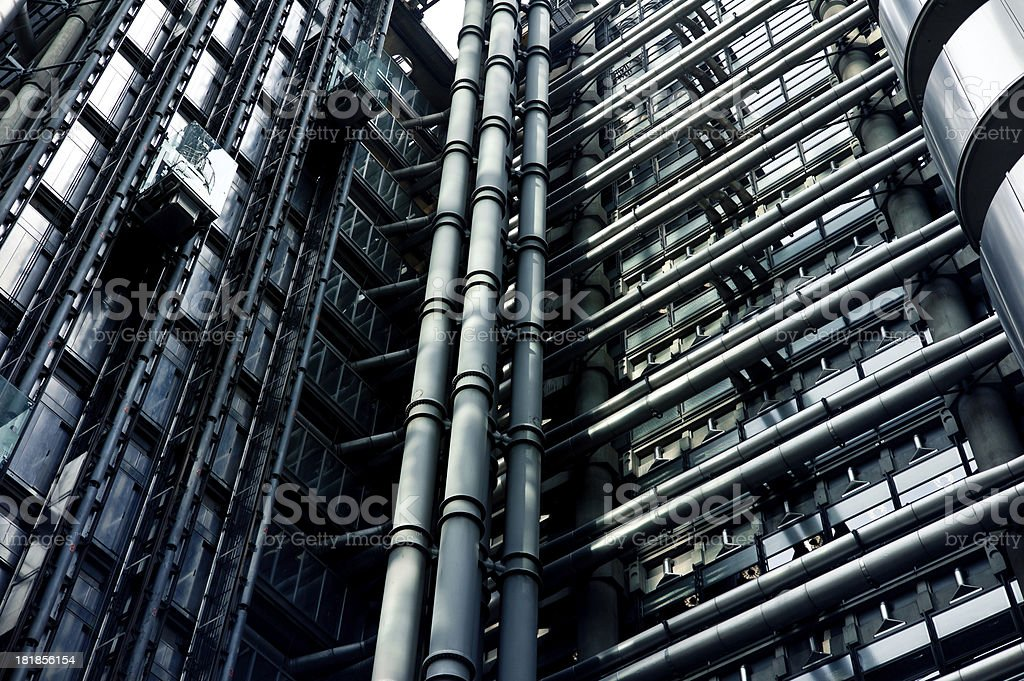 Industrial Modern Metallic Building Facade royalty-free stock photo