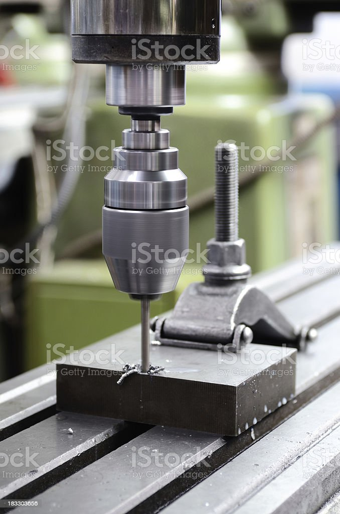 Industrial Mold Drill royalty-free stock photo