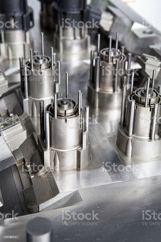 Industrial molding machine stock photo