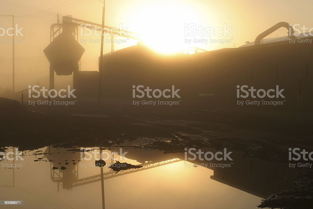 Industrial Morning royalty-free stock photo