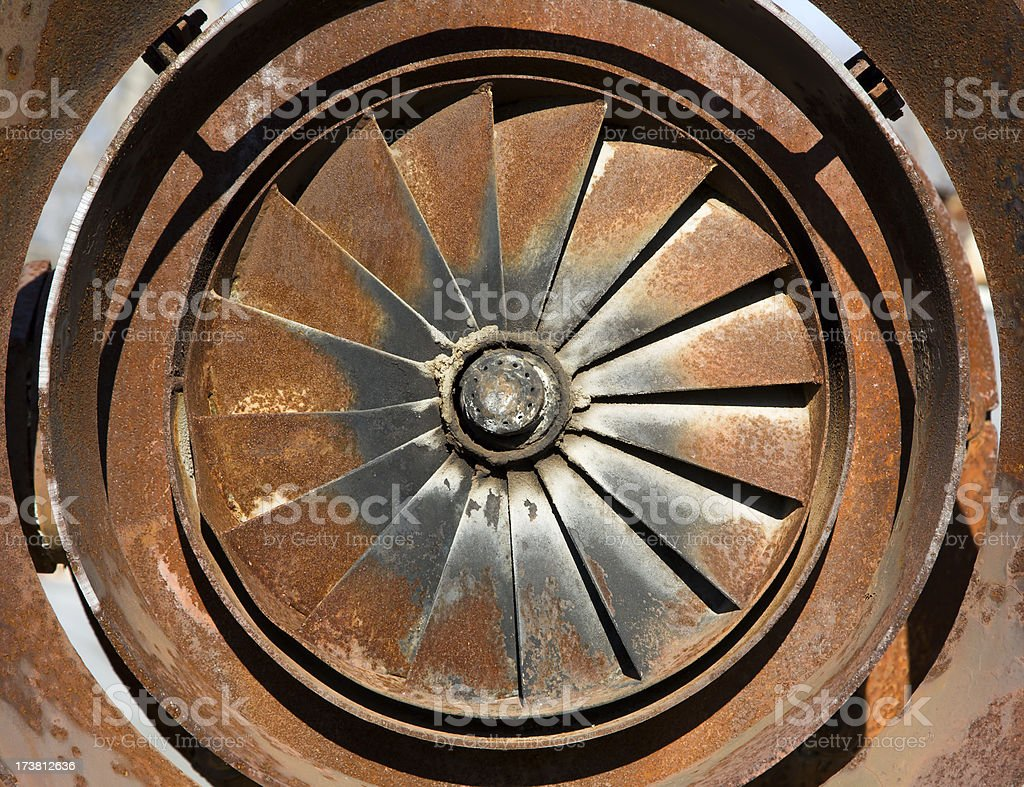 Industrial motor royalty-free stock photo