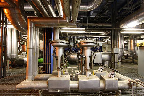 industrial motor pump stock photo