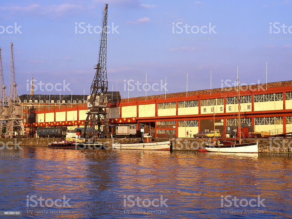 Industrial Museum. Bristol Harbour. England royalty-free stock photo