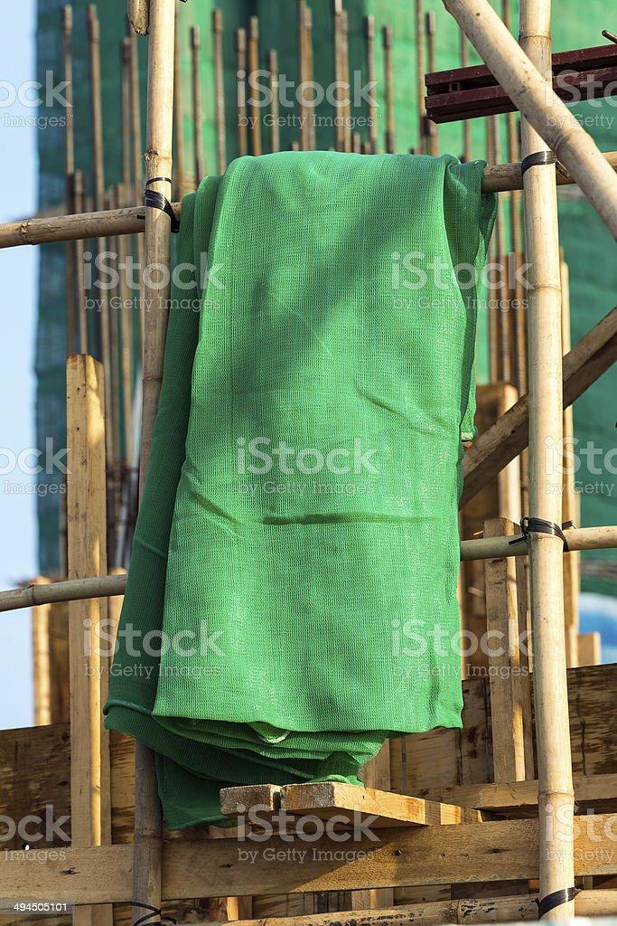 Industrial Netzgewebe in Bambus Baugerüst – Foto