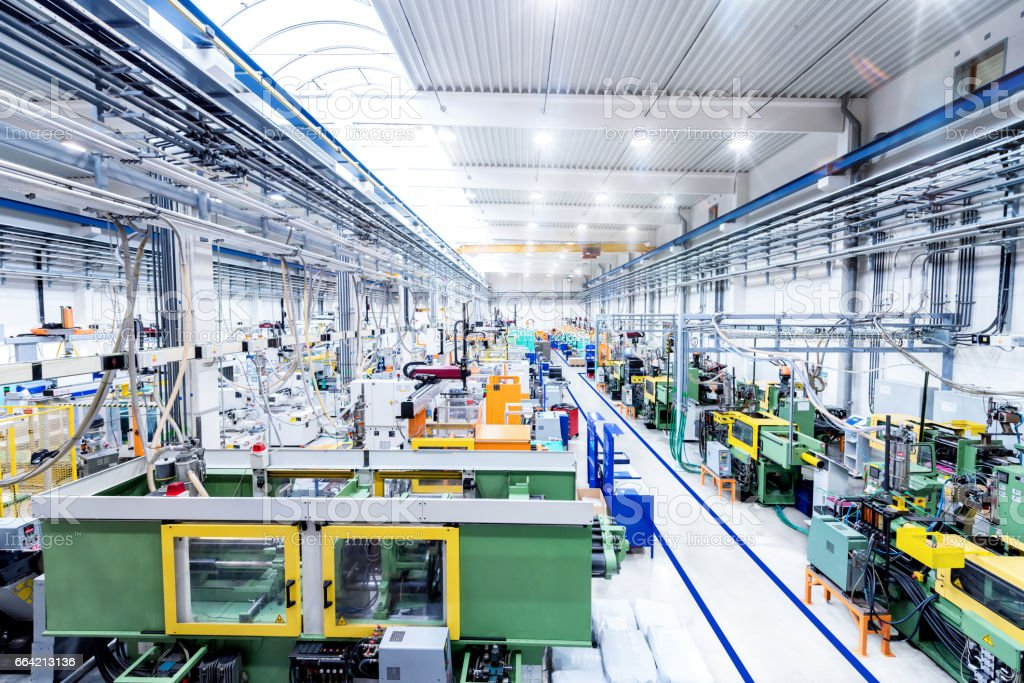 Industrial new factory & modern machines stock photo