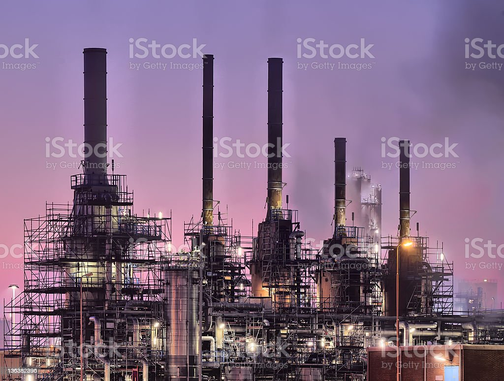 Industrial Night Scene royalty-free stock photo