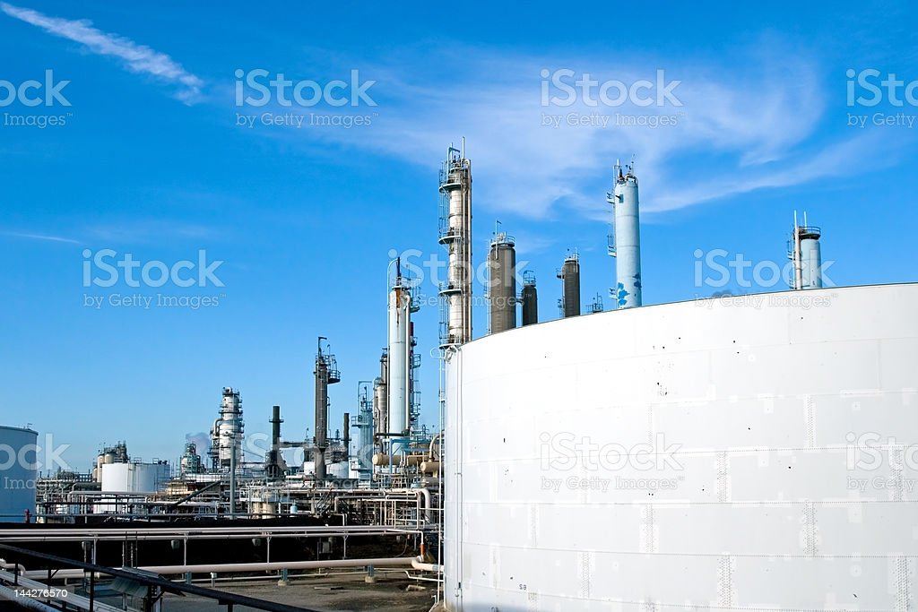 Industrial Oil Refinery royalty-free stock photo