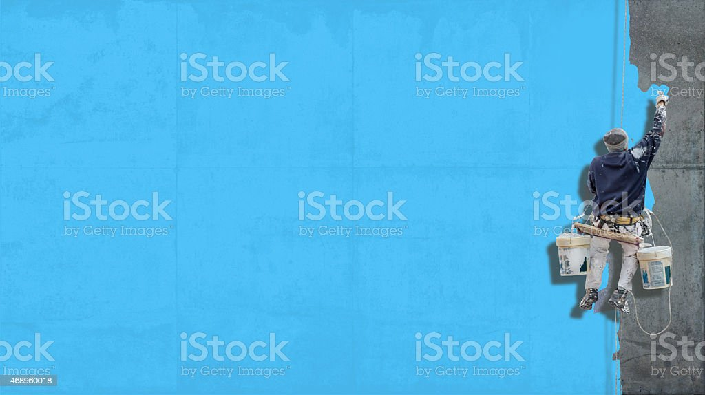 Industrial paint pale turquoise background stock photo