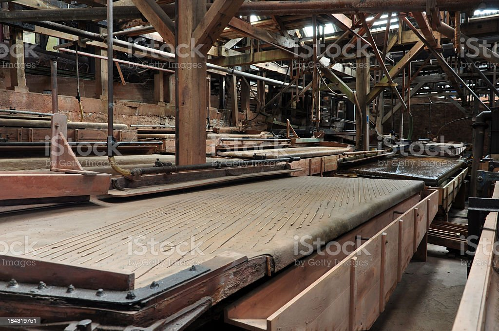 Industrial Panning stock photo