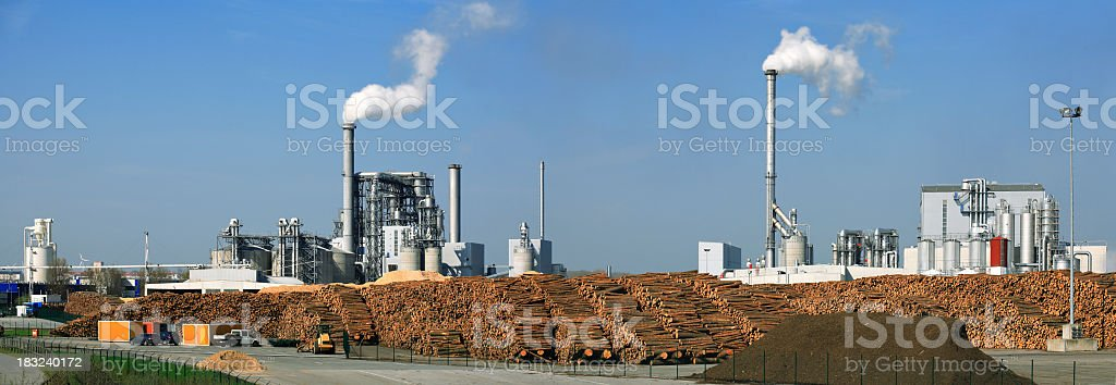 Industrial Panorama royalty-free stock photo