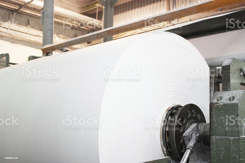industrial paper roll stock photo