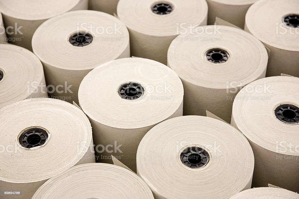 Industrial Paper Rolls royalty-free stock photo