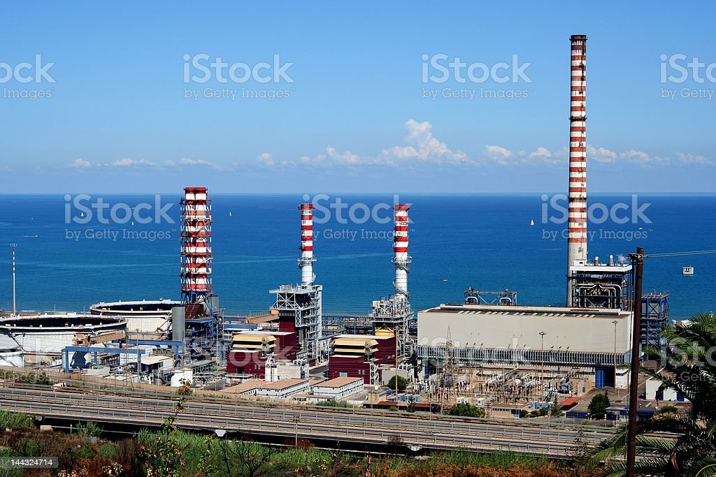 industrial park in Sicily near Palermo royalty-free stock photo