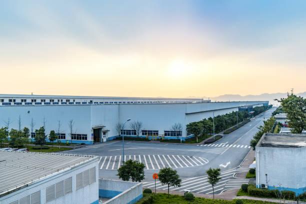 工業団地や重慶、中国の工場 ストックフォト