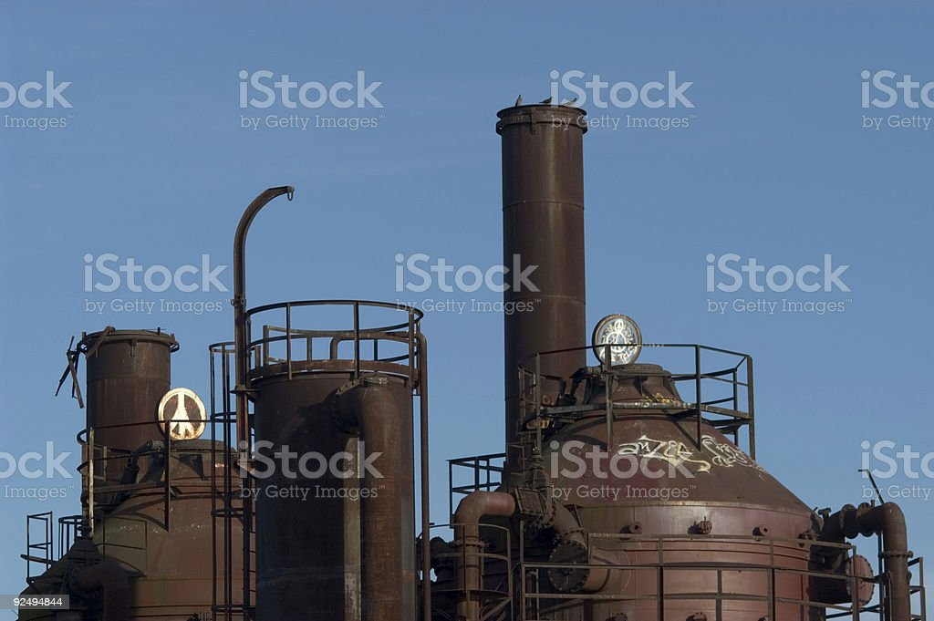 Industrial Peace royalty-free stock photo