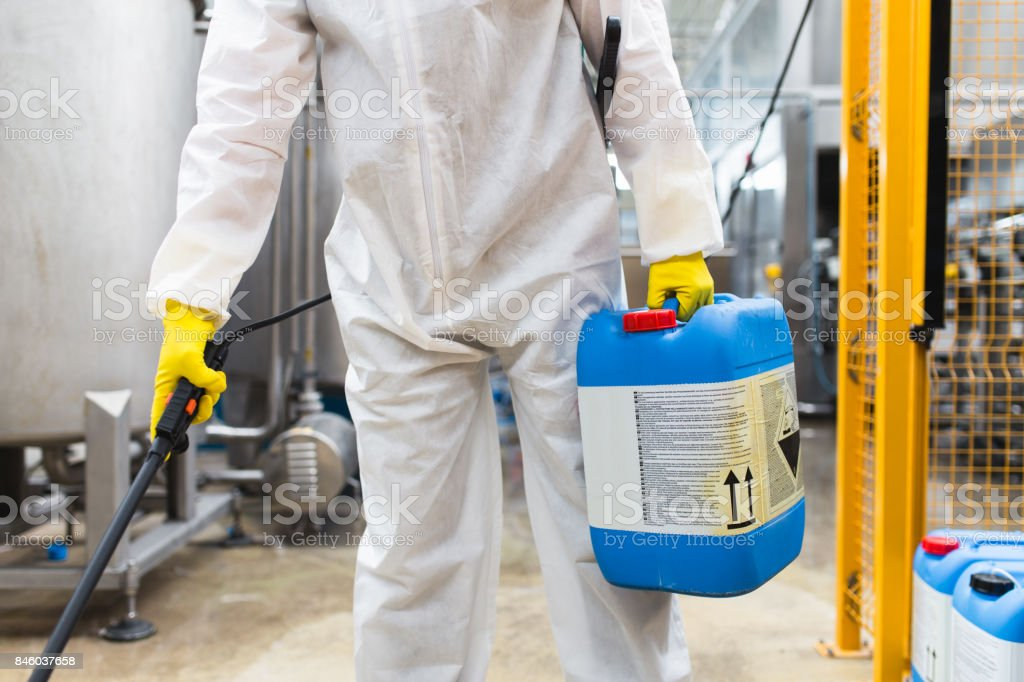 Industrial pest control stock photo