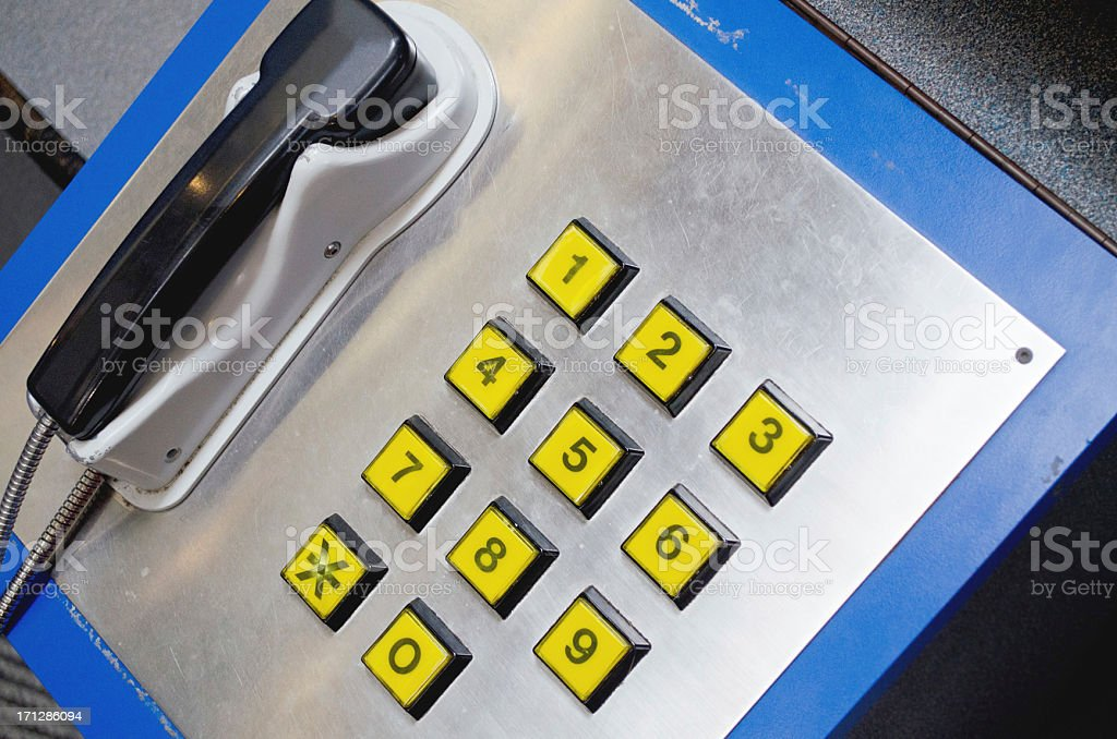 industrial phone and keypad in bright colors royalty-free stock photo