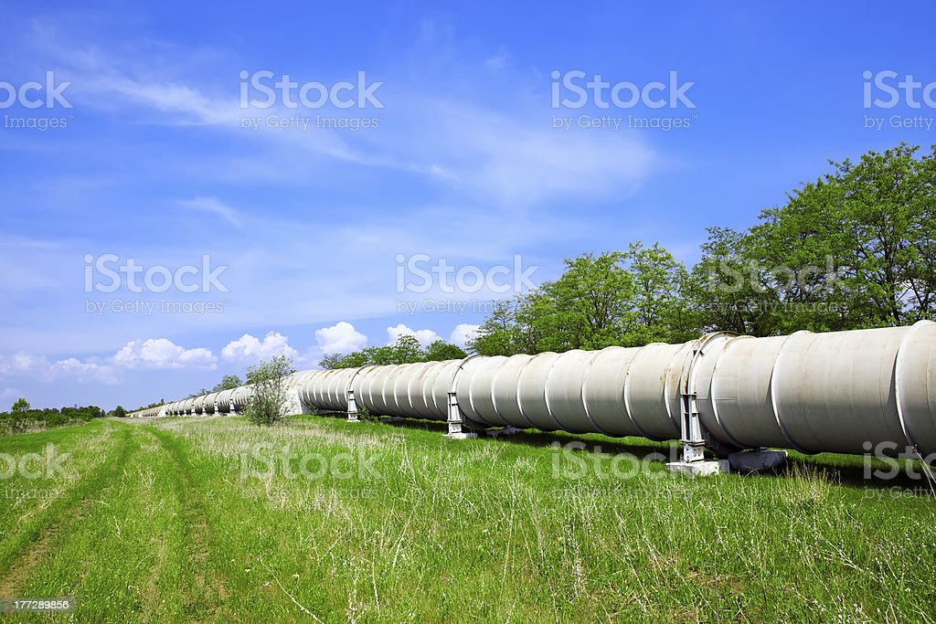 Industrial pipe with gas and oil royalty-free stock photo