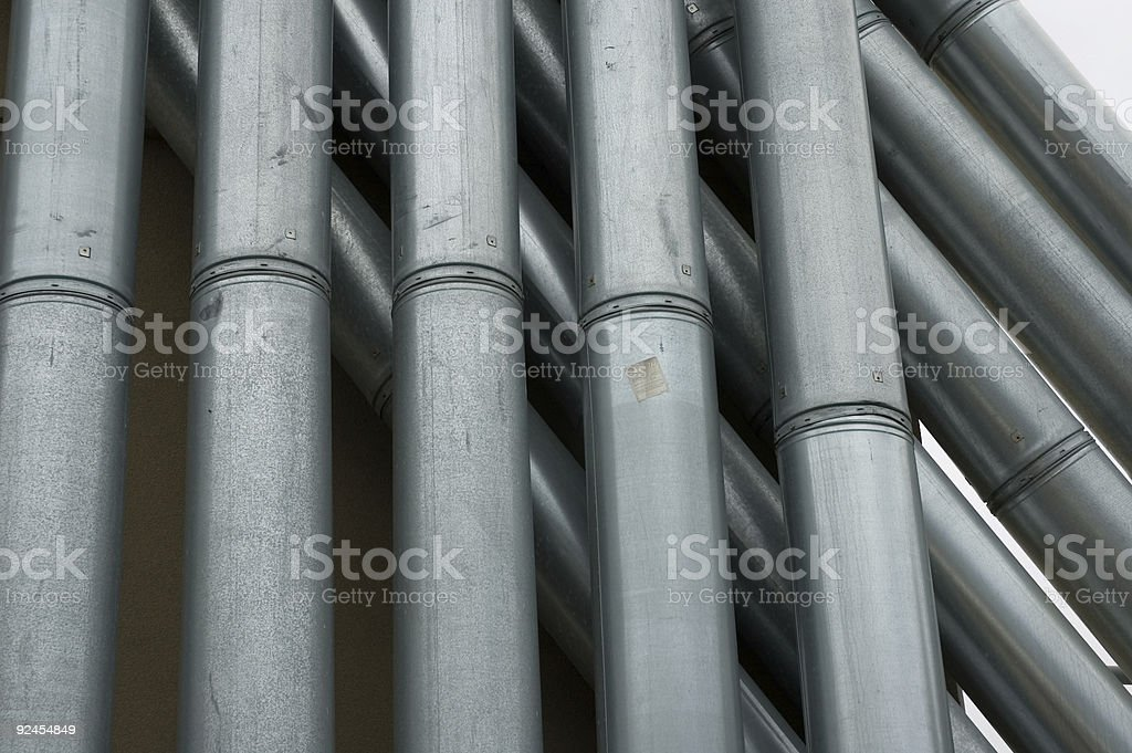 Industrial Pipes stock photo