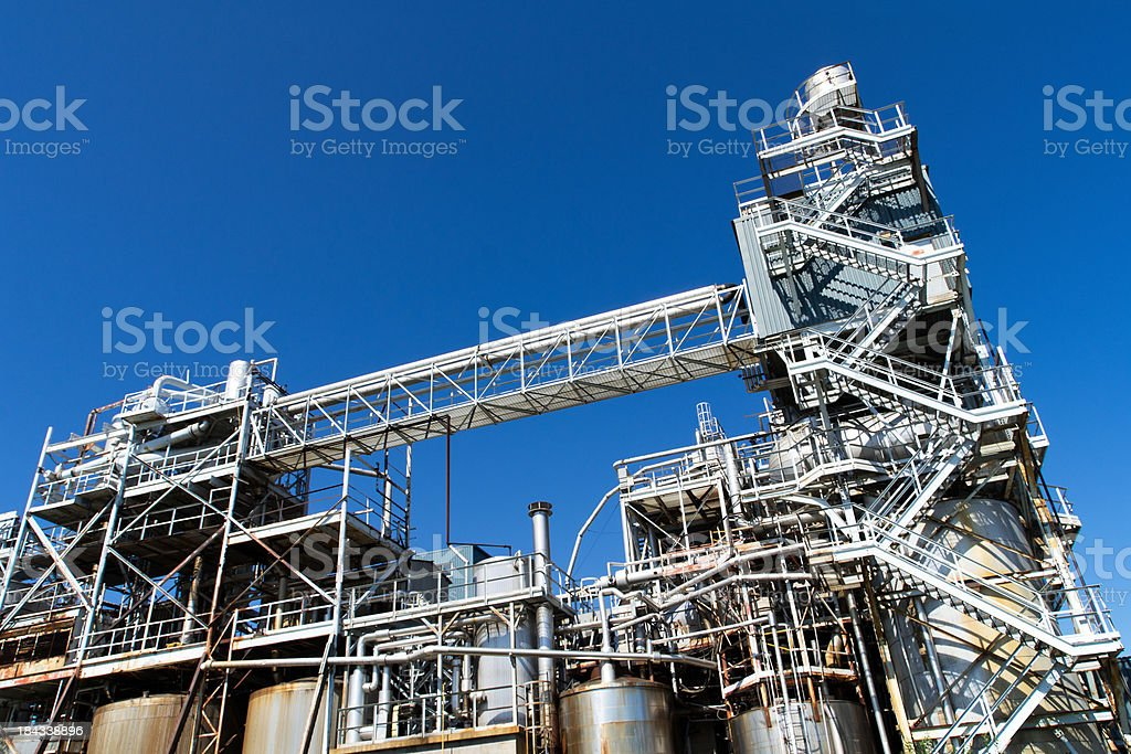 Industrial Piping at Chemical Plant royalty-free stock photo
