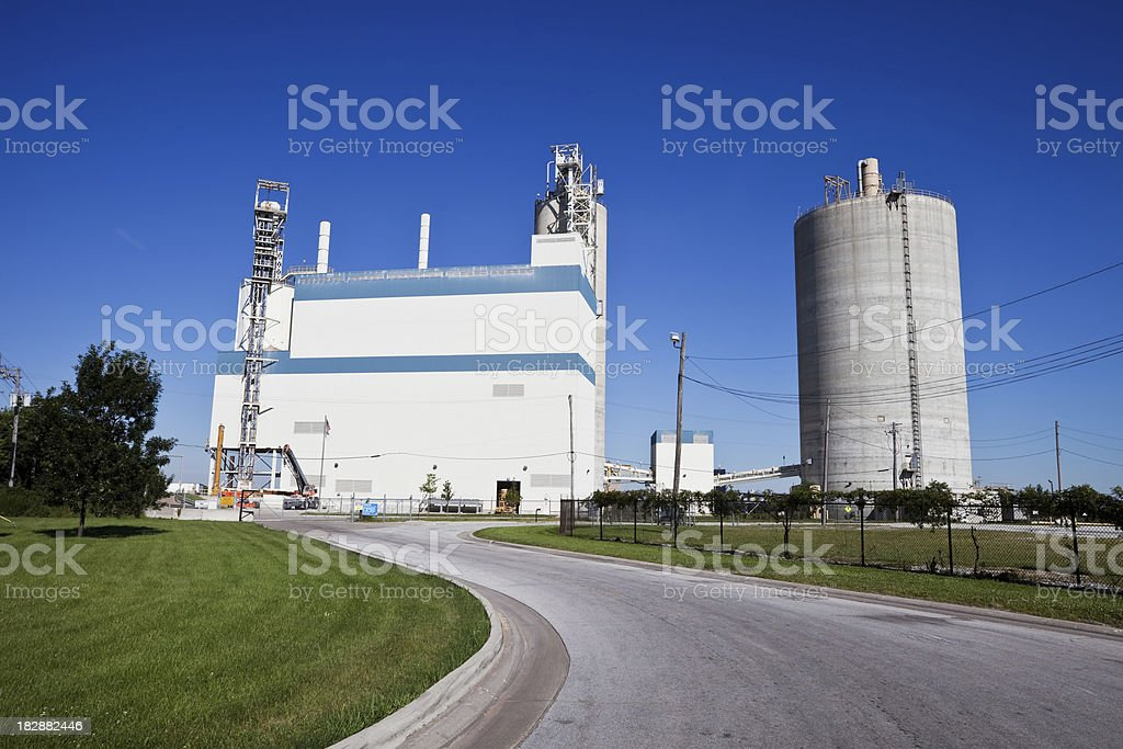 Industrial Plant at Calumet Harbor, Chicago royalty-free stock photo