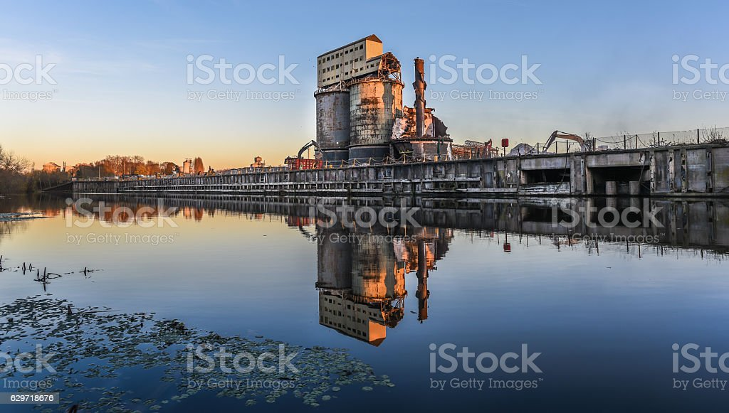Industrial Plant Demolition stock photo