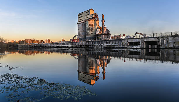 industrial plant demolition - abandoned stock photos and pictures