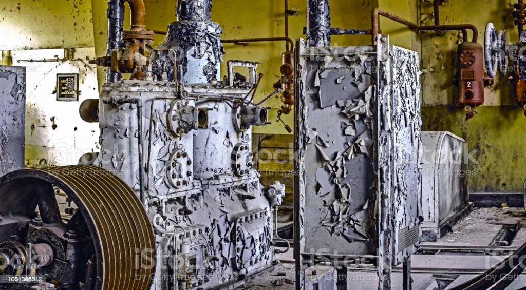industrial plant equipment derelict stock photo