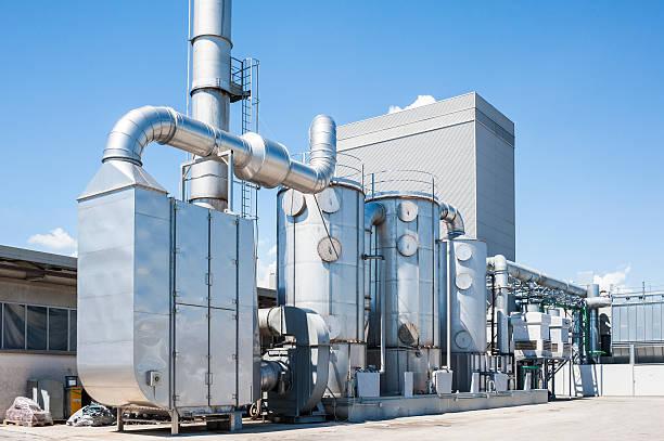 industriepflanze der luft zu filtern, - luftfilter stock-fotos und bilder