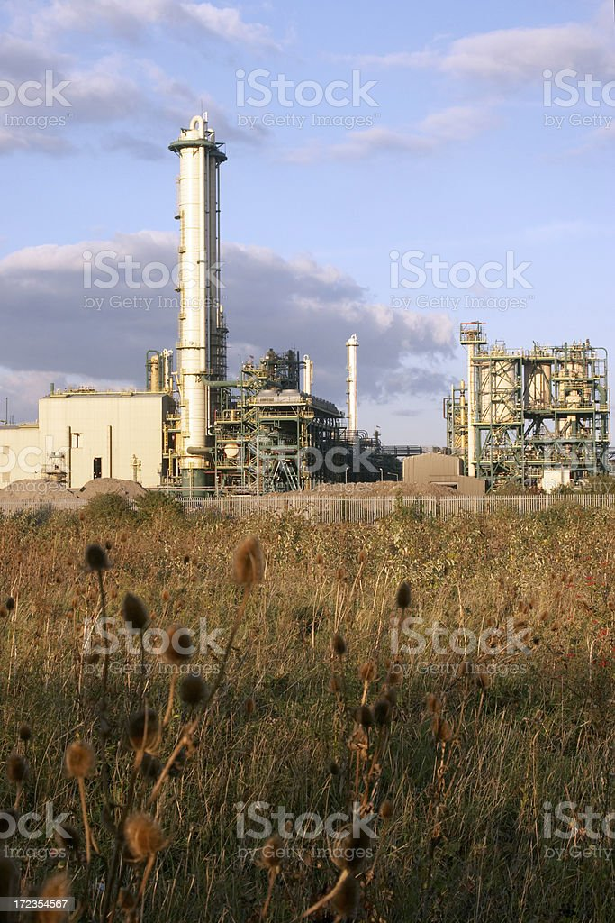 Industrial plant tower royalty-free stock photo