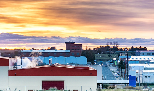 Industrial Poligono at dusk
