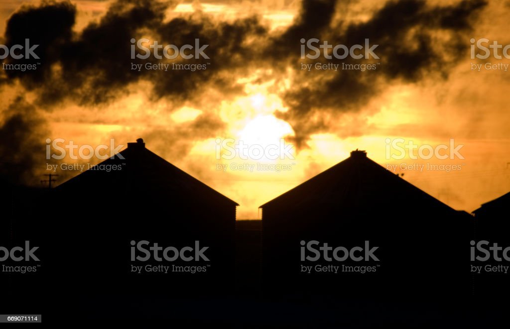 Industrial Pollution Canada stock photo