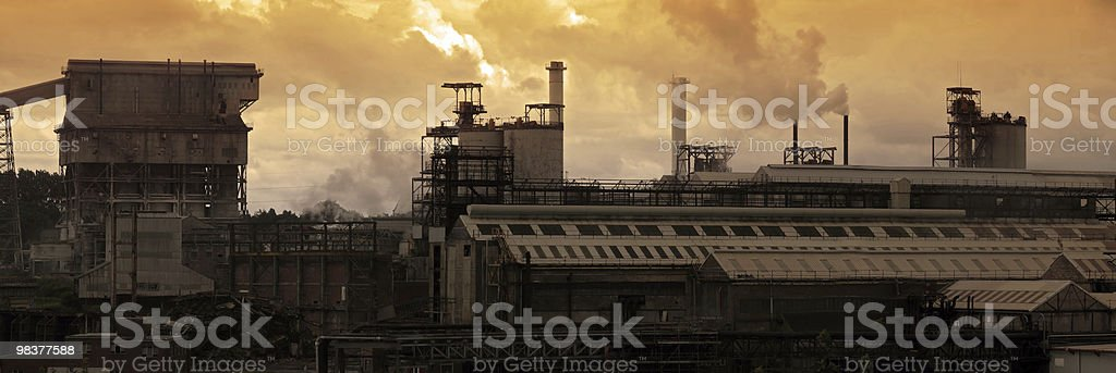 Industrial Pollution royalty-free stock photo