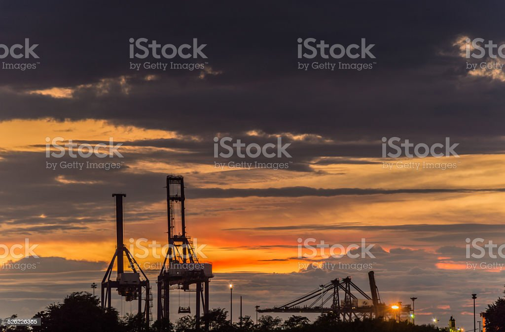 Industrial Port stock photo