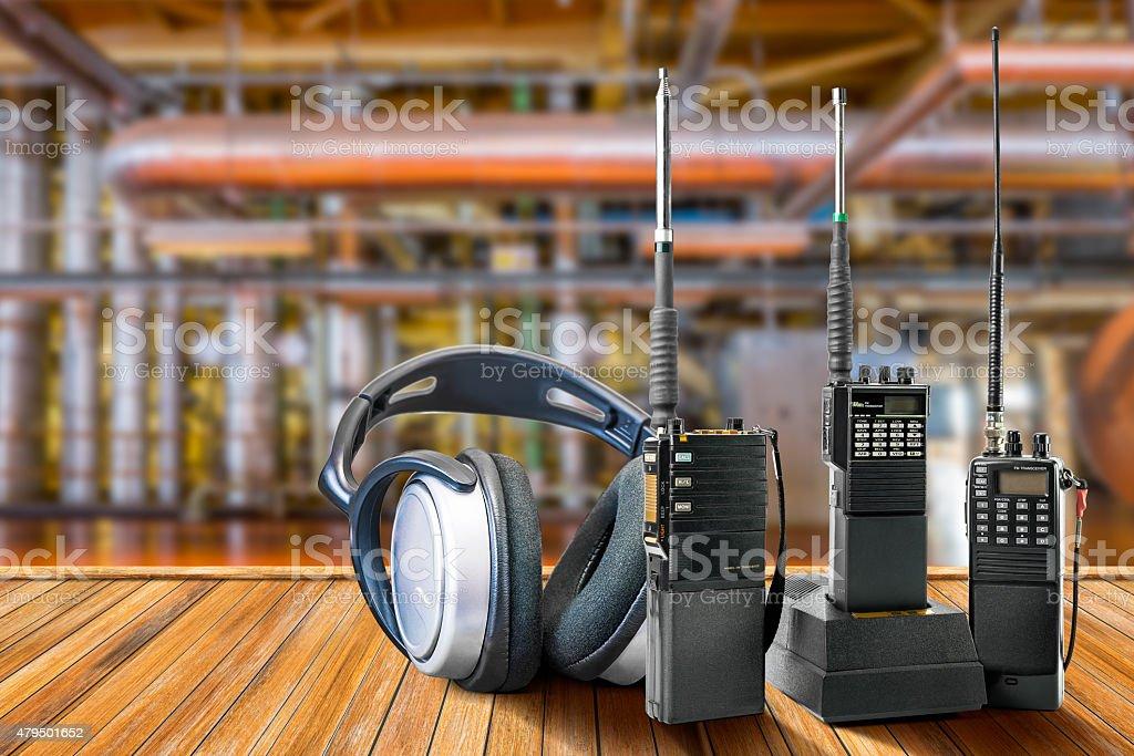 Industrial portable radio stock photo