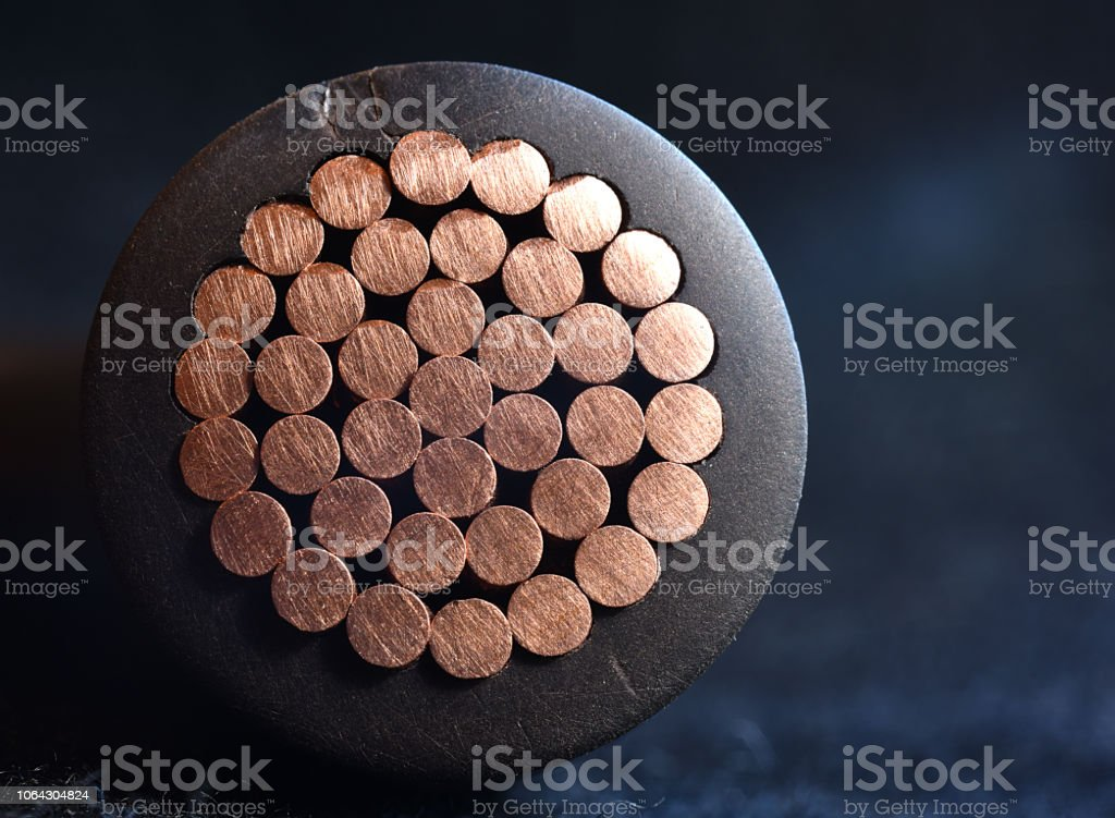 Industrial Power Cable stock photo