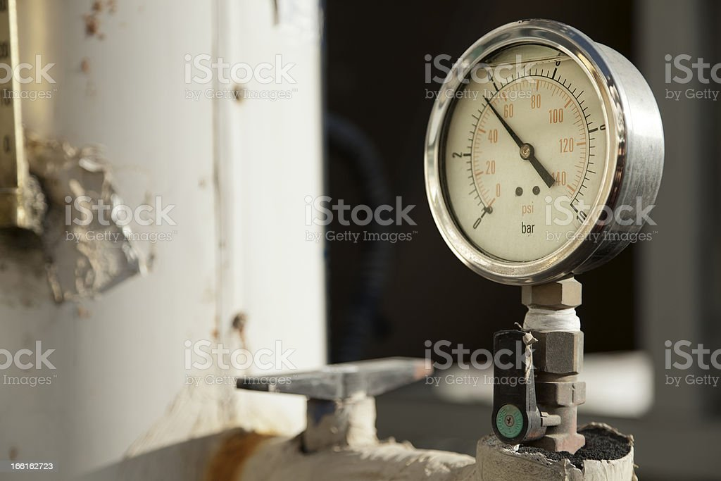 Industrial Pressure Gauge royalty-free stock photo