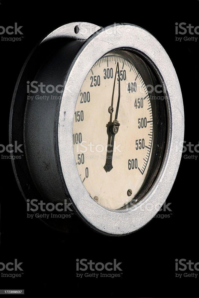 Metro de presión Industrial foto de stock libre de derechos
