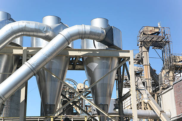 Industrial processing complex with pipe system