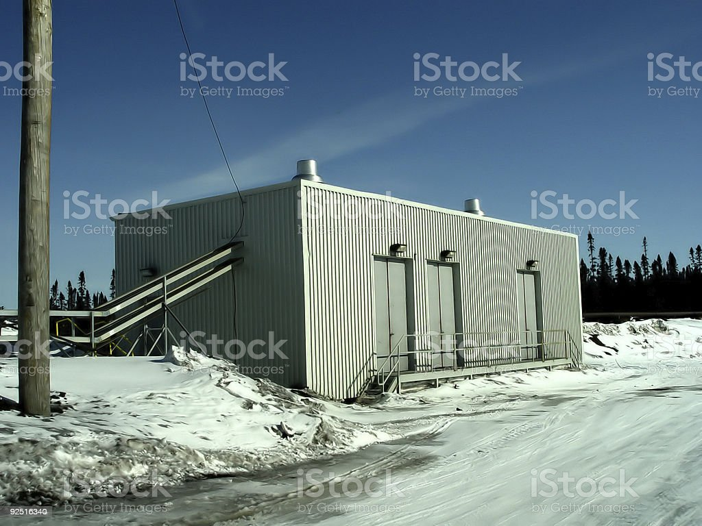 Industrial Pump House royalty-free stock photo