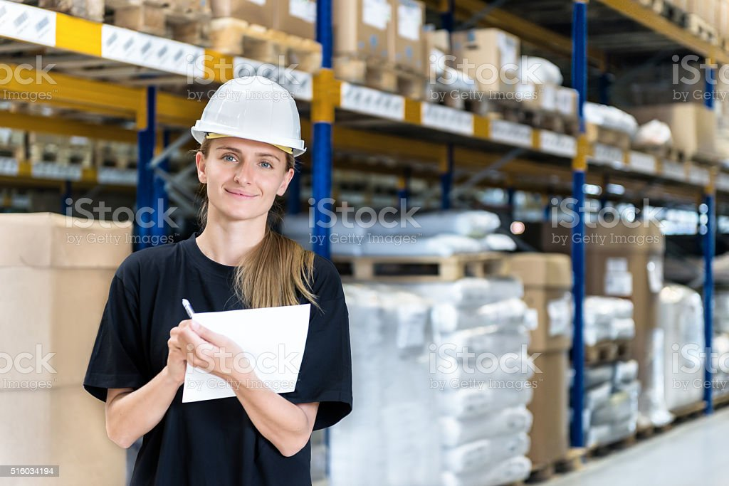 Industrial quality control stock photo
