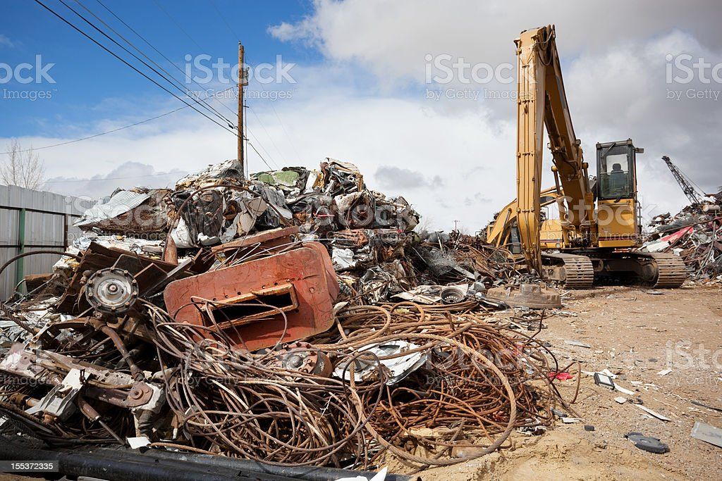 industrial recycling junkyard royalty-free stock photo