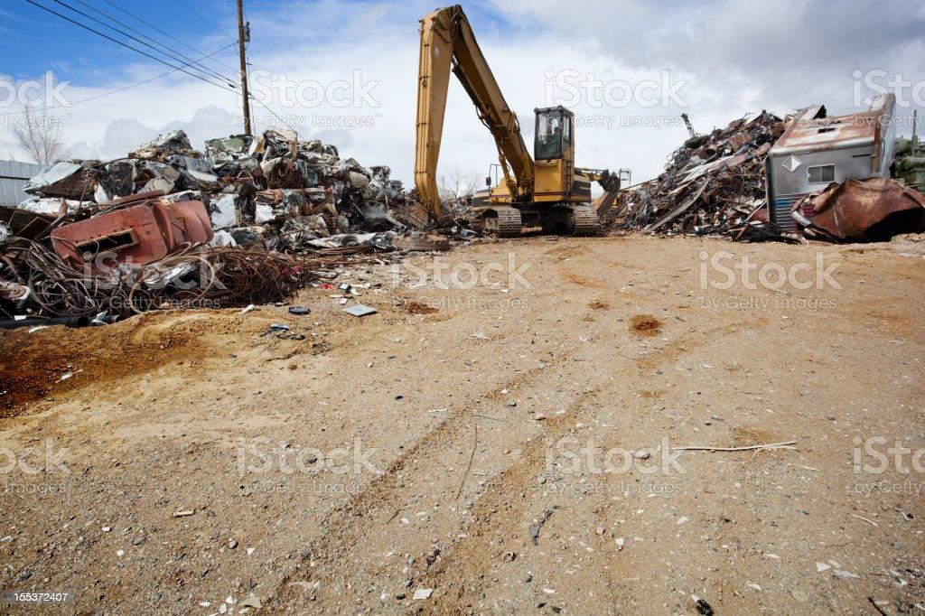 industrial recycling junkyard royalty-free stock photo