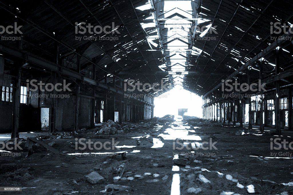 Industrial Remains royalty-free stock photo