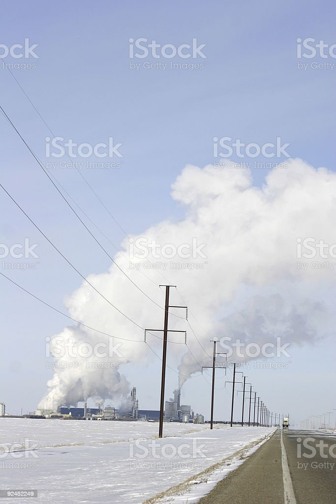 Industrial Road royalty-free stock photo