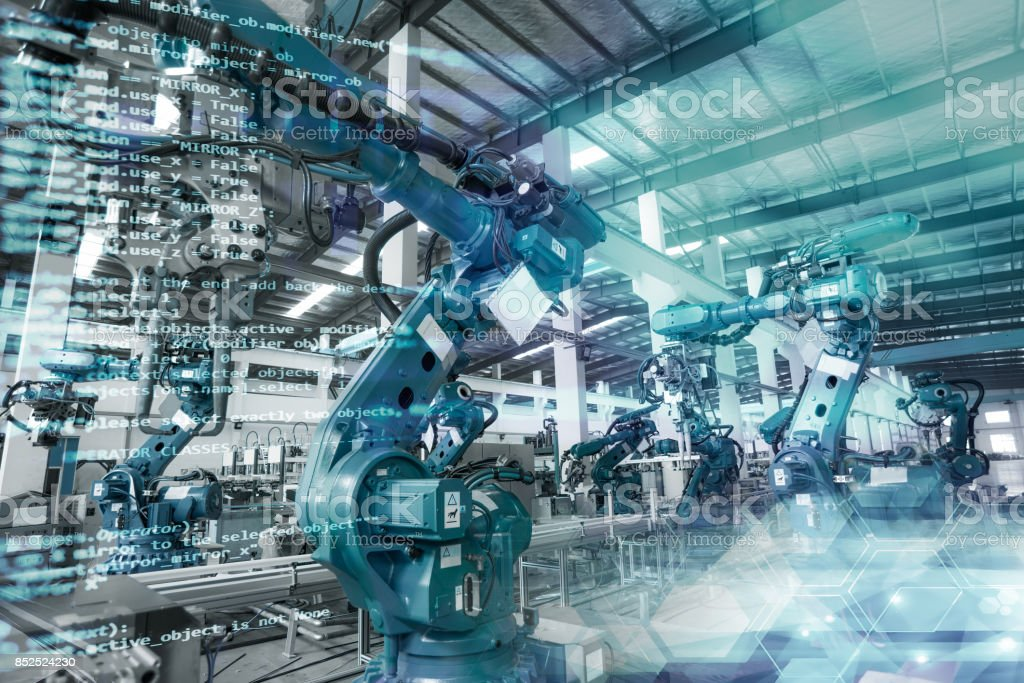 industrial robot stock photo